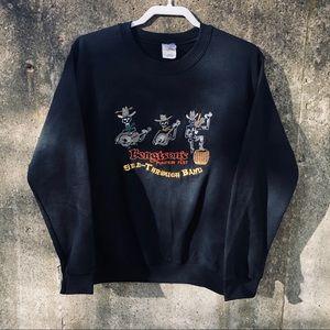 Bengston's See-Through Band Sweatshirt